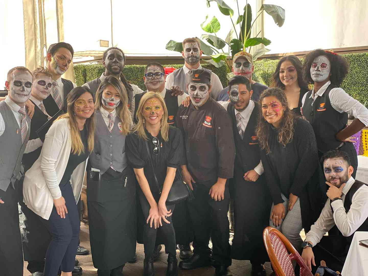 Staff from Day of the Dead Brunch 2019