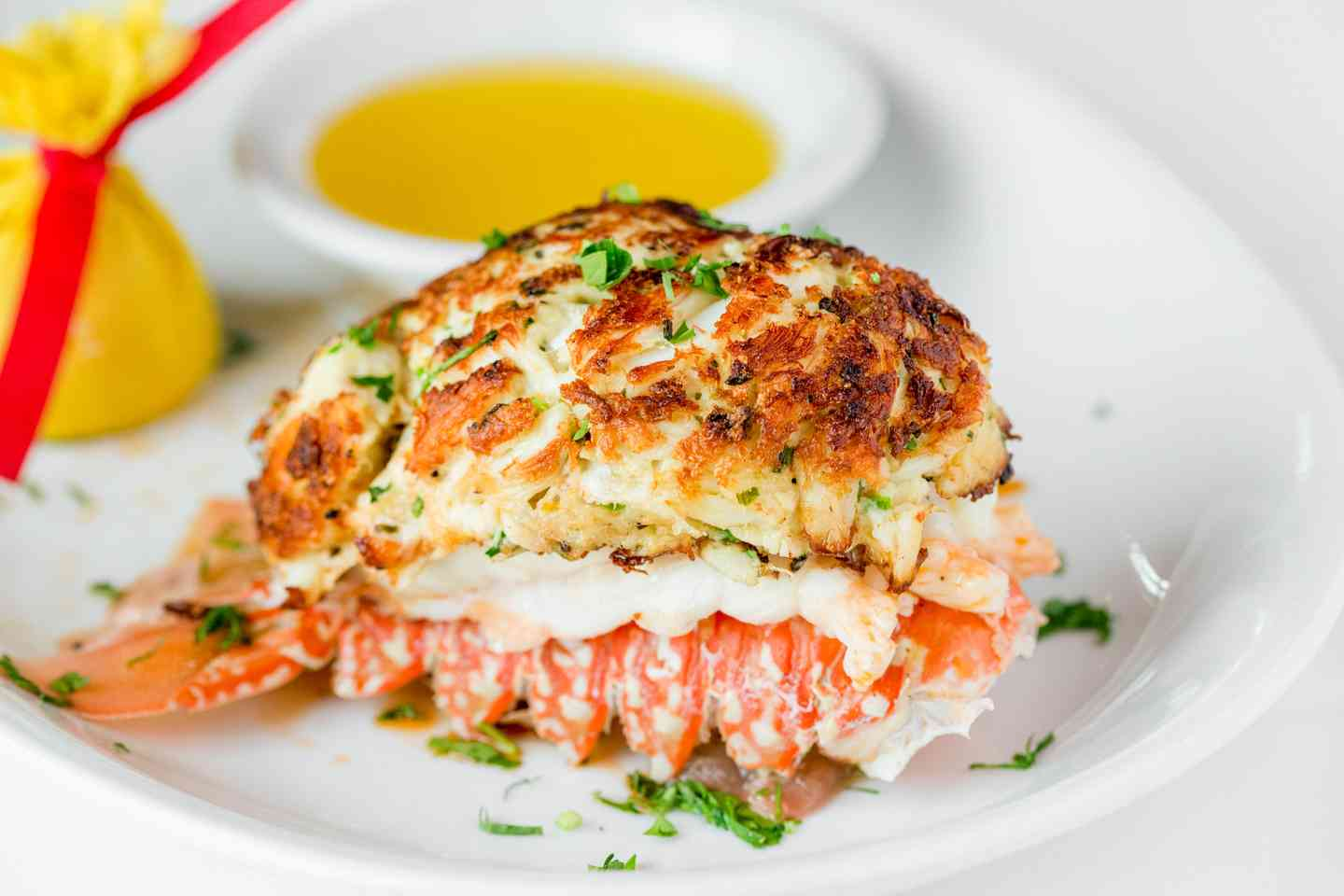 Crab Stuffed Lobster Tail
