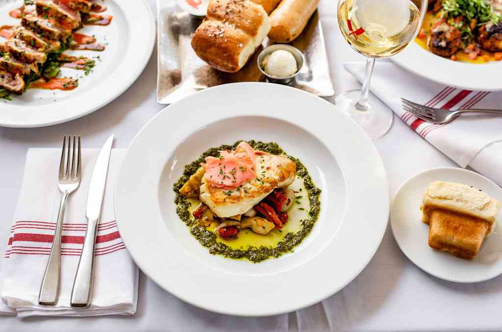 salmon and other dishes