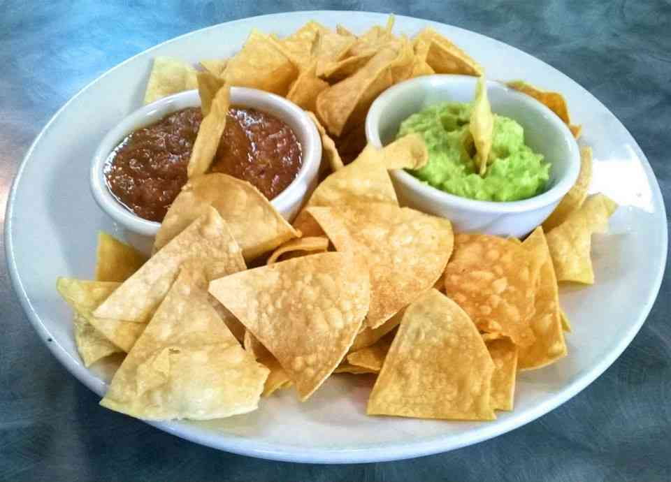 Baja Chips, Guacamole and Salsa