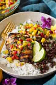 Jerk Chicken with Mango Salsa