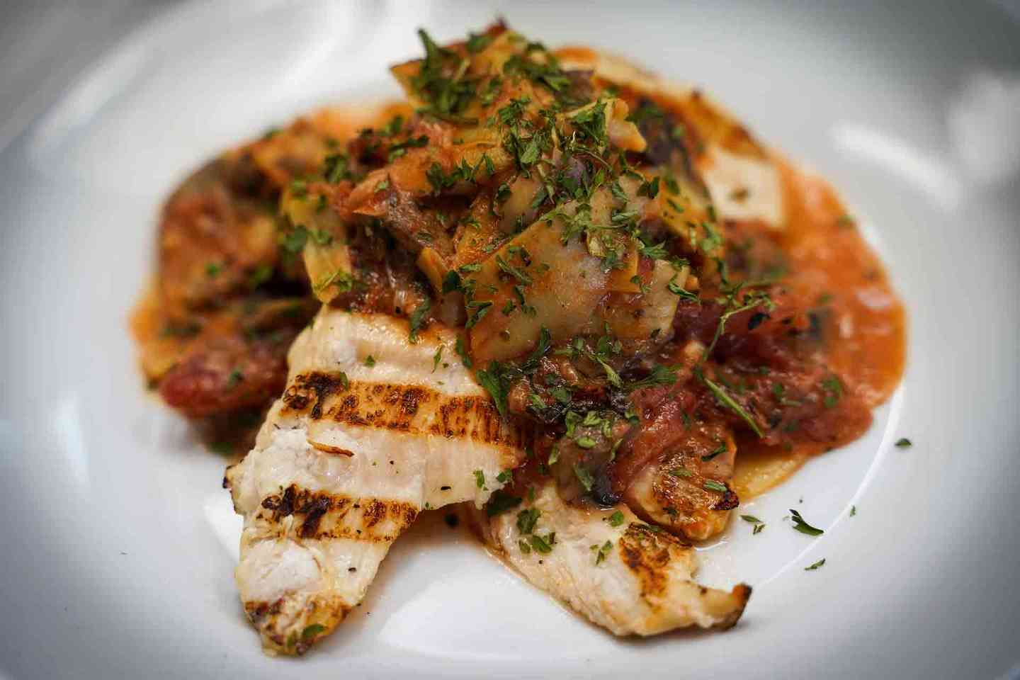 Encore's Signature Artichoke Chicken