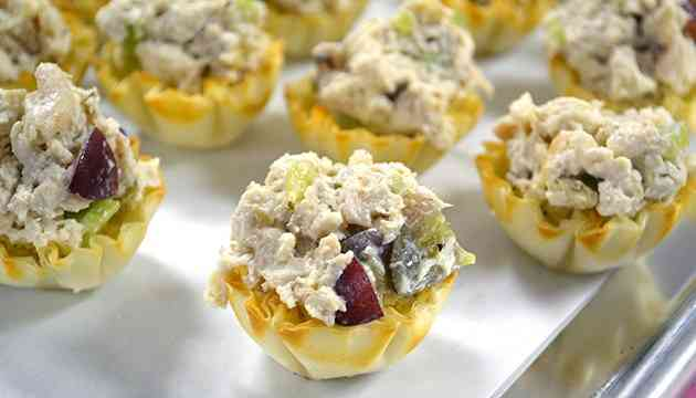 Chopped Chicken Salad Tartlets