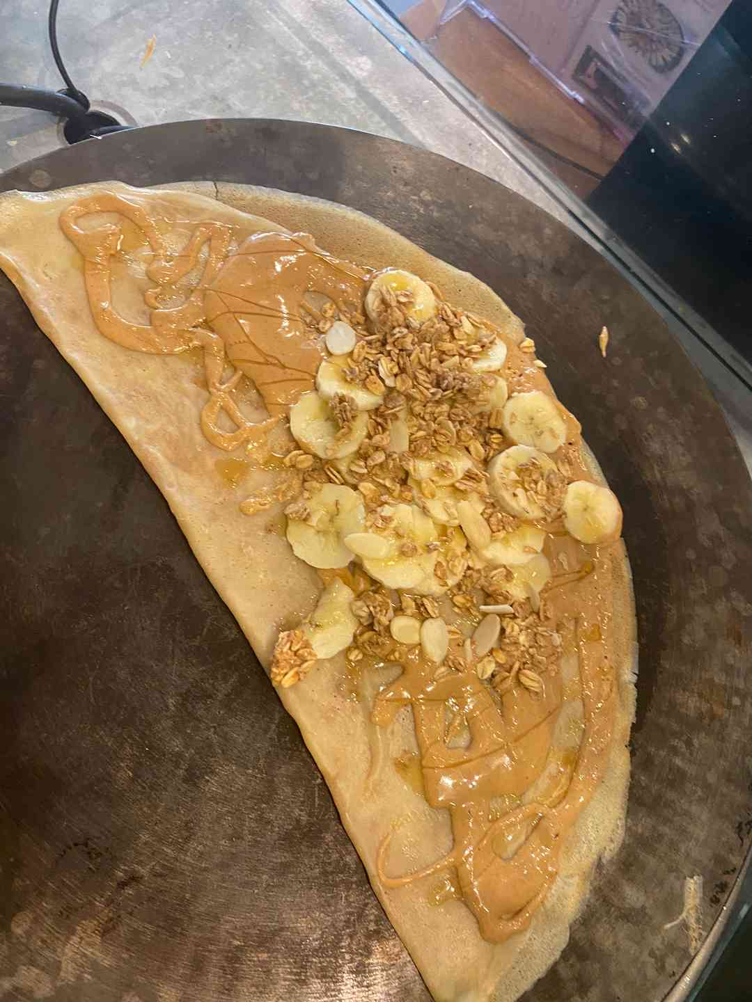 Peanut Butter, Bananas, Honey, Granola