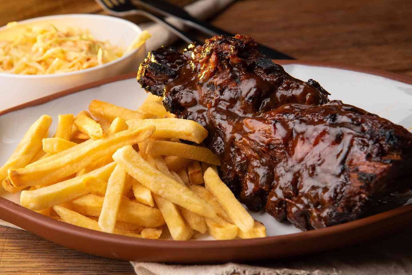spare rib and fries