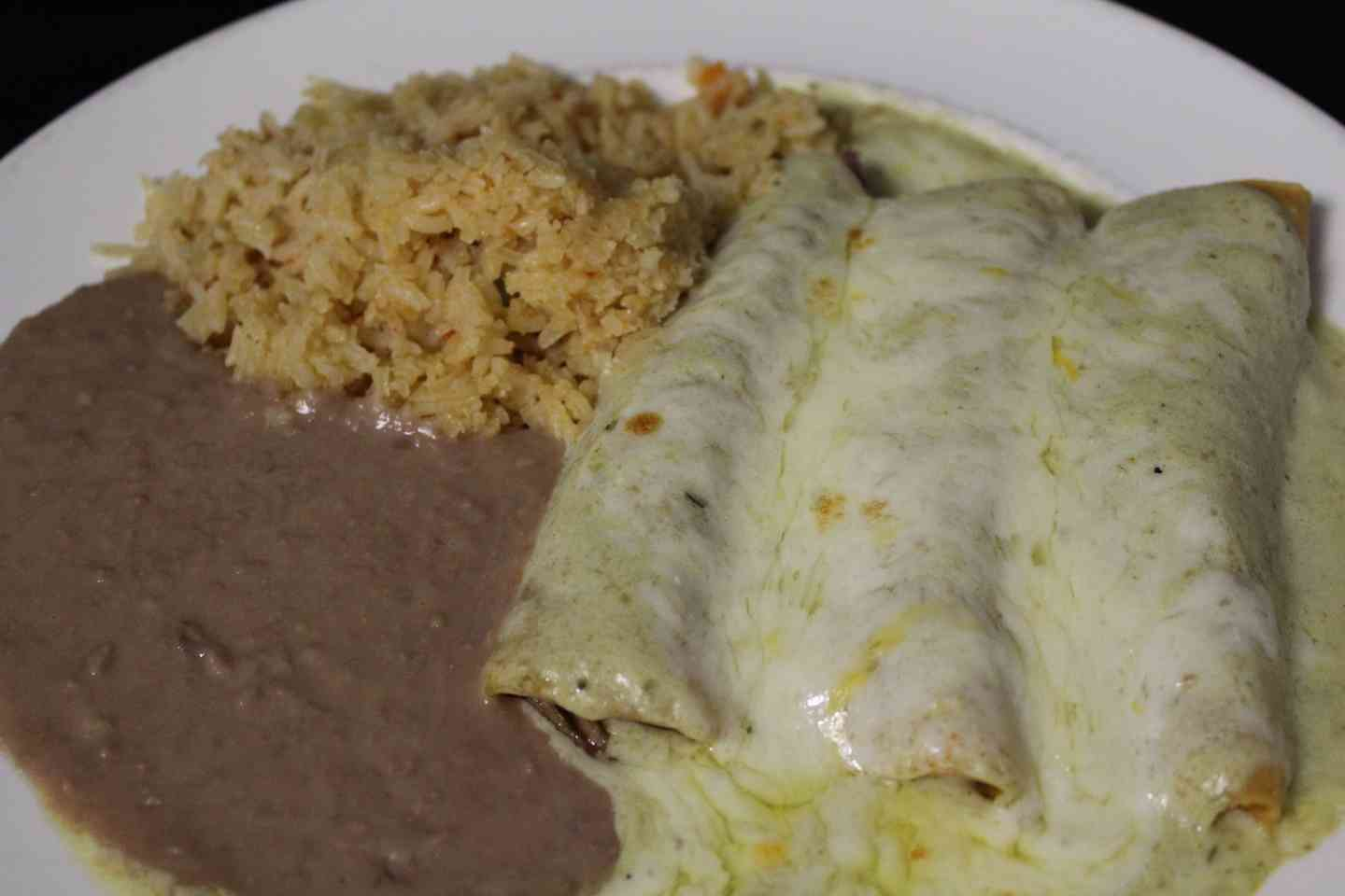 7. 2 Chicken Enchiladas