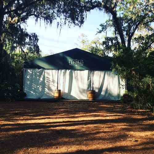 tent before event