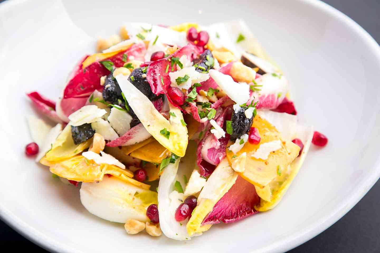 Grilled Fuyu Persimmon & Belgian Endive Salad