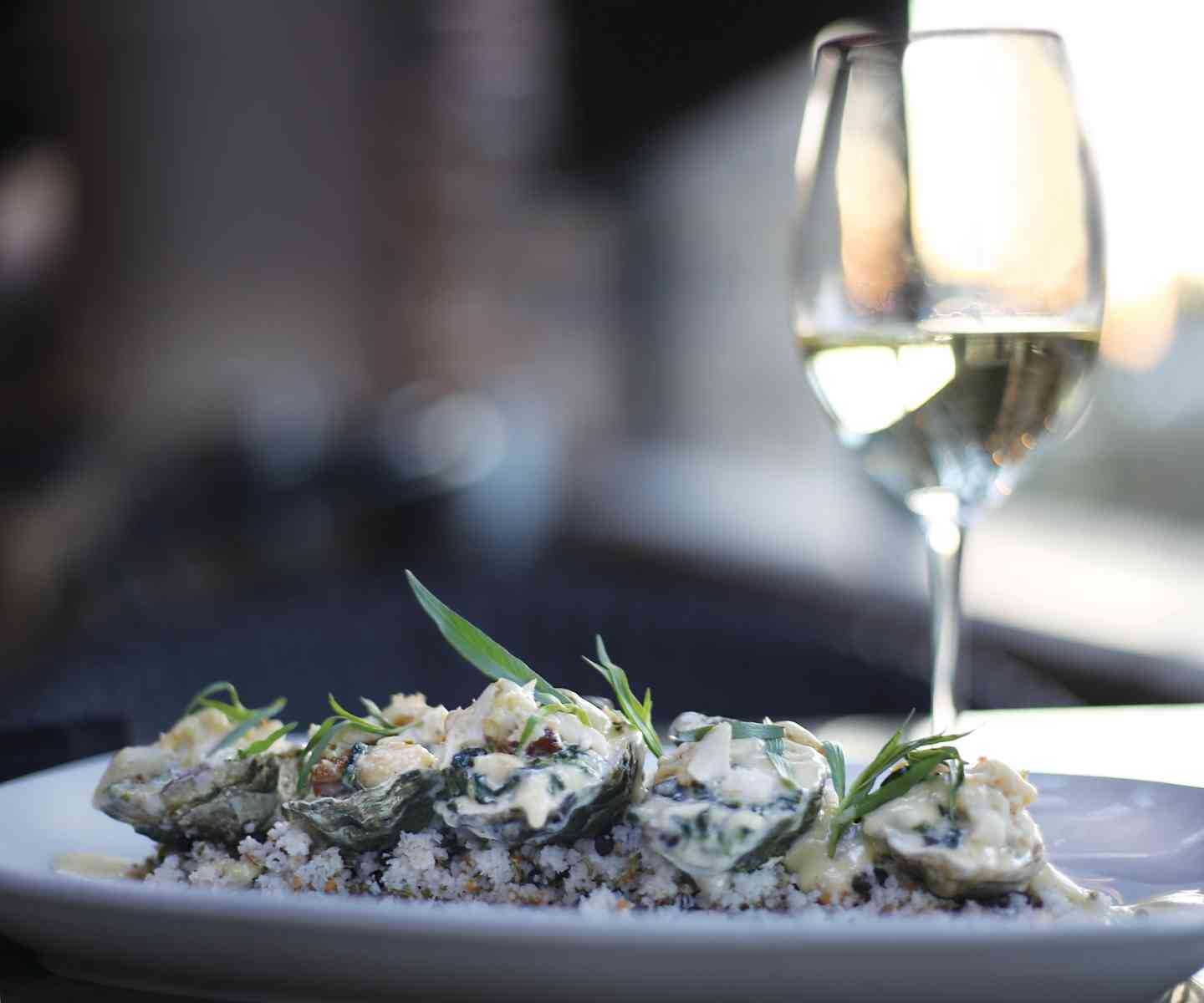 Blue Crab Baked Oysters with Champagne Tarragon Butter
