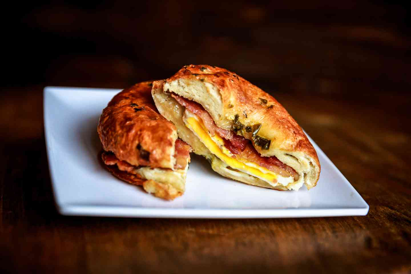 Bacon, Ham or Sausage and Egg & Cheese on a Bagel