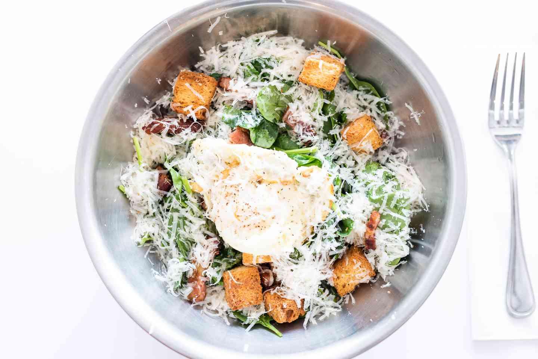 Spinach Caesar Salad