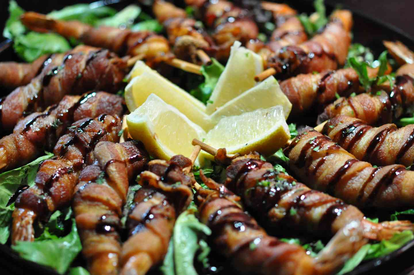 BACON WRAPPED SHRIMP PLATTERS