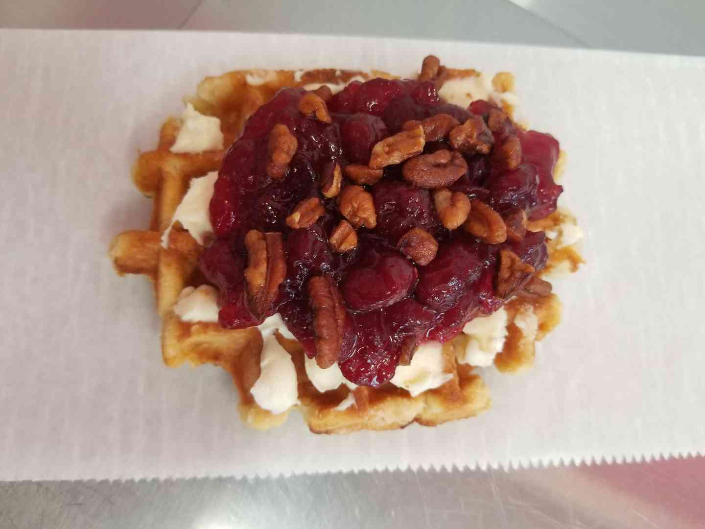Cranberry and Pecan Waffle