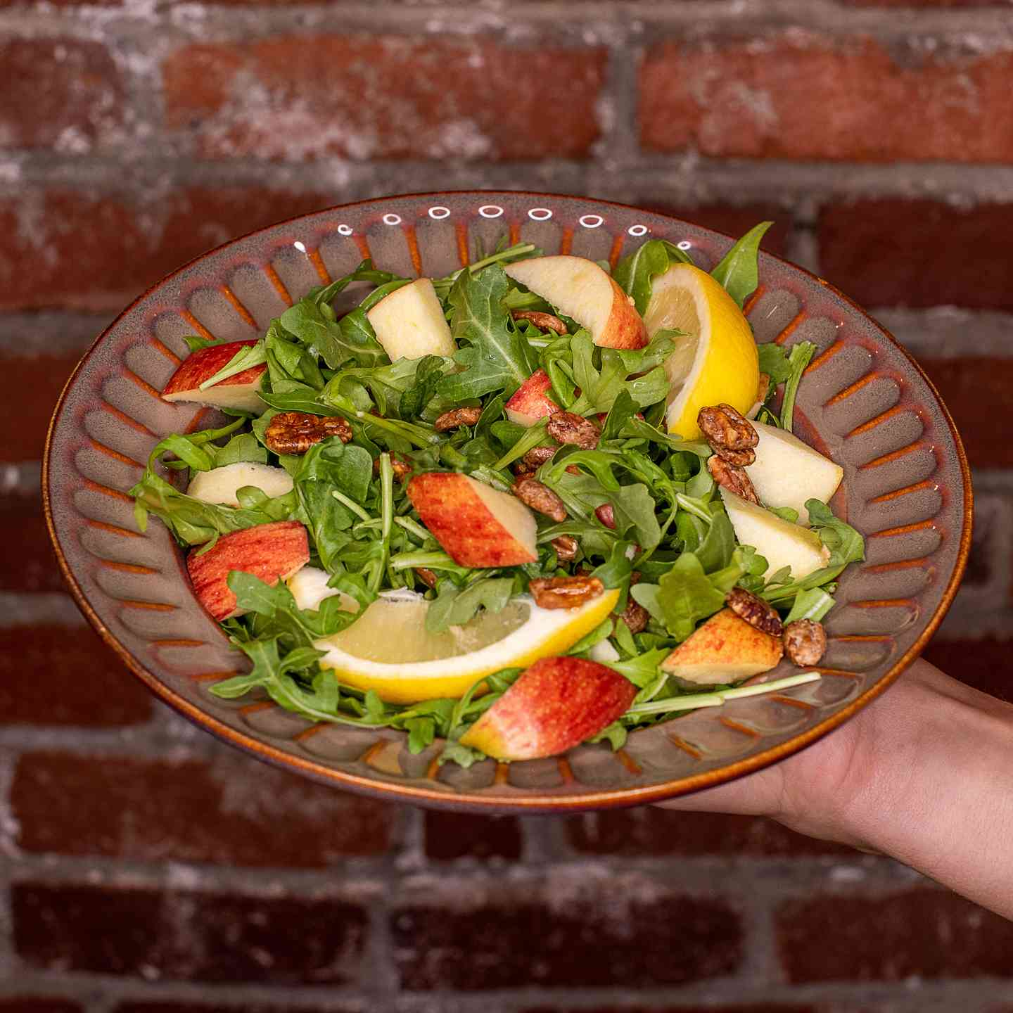 Apple Arugula Pecan Salad