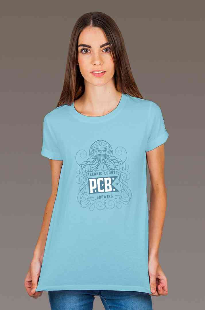 Jellyfish Blue Tee Shirts