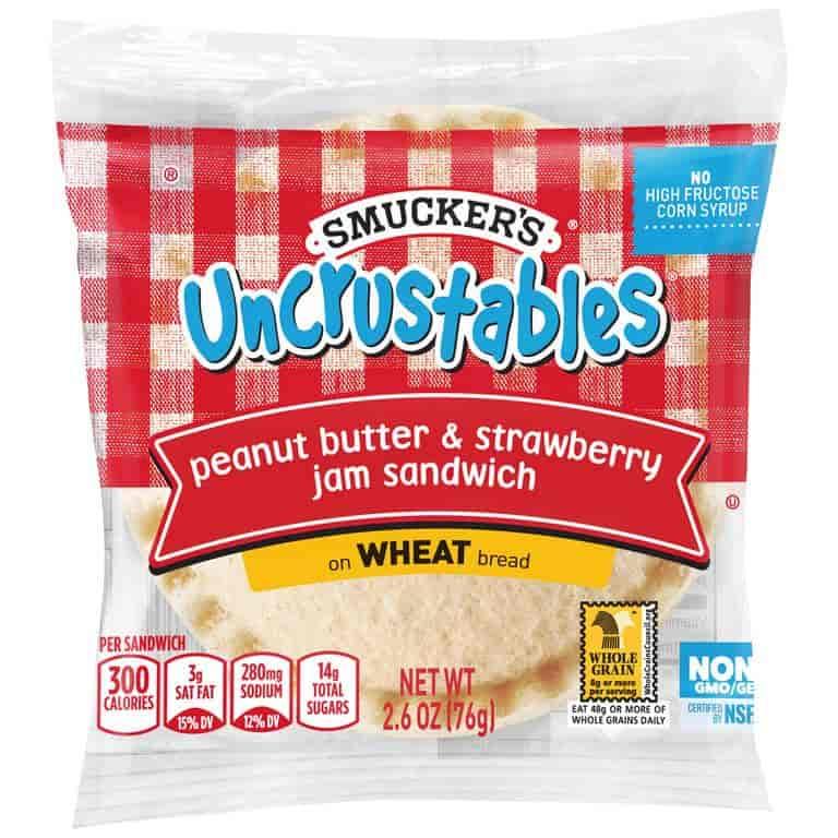 Peanut Butter & Strawberry Wheat Sandwiches
