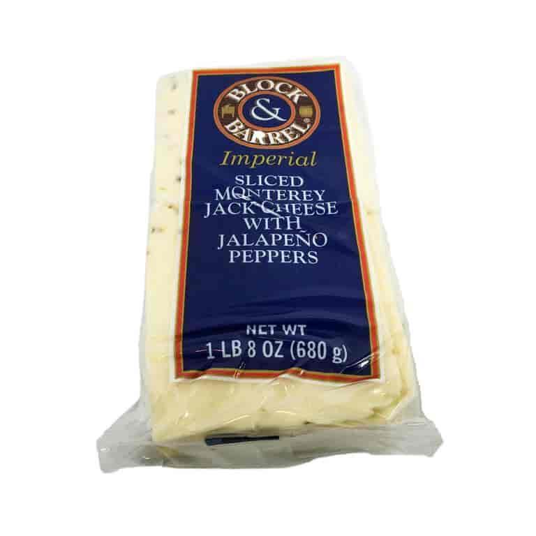 Sliced Monterrey Pepper Jack Cheese