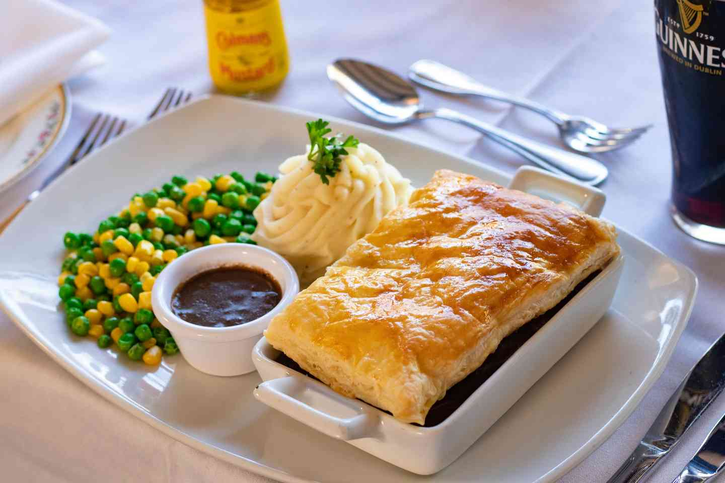 Steak, Guinness + Mushroom Pie