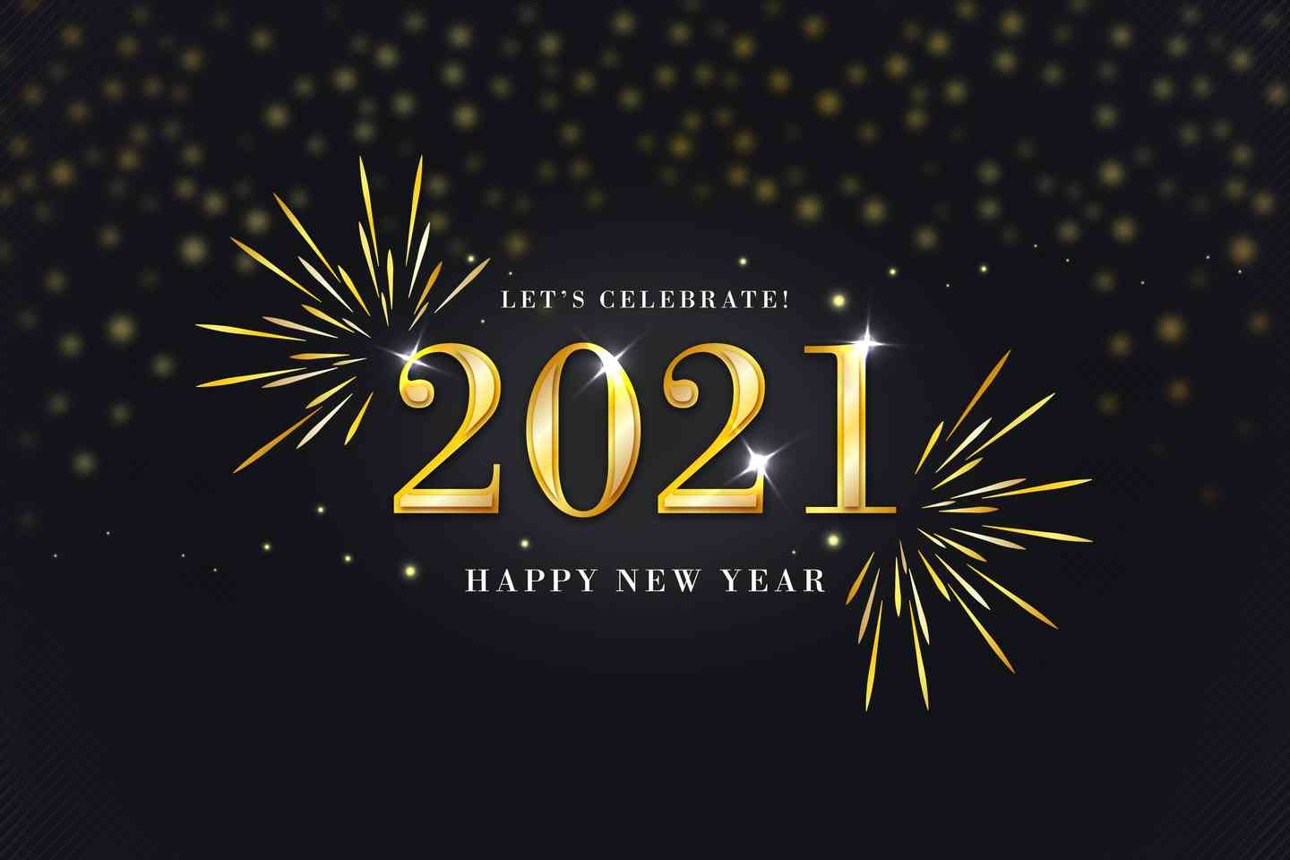 let's celebrate 2021 - happy new year