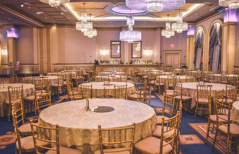Elegantly decorated event venue