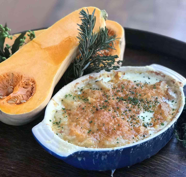 Roasted Butternut Squash & Potato Dauphinois
