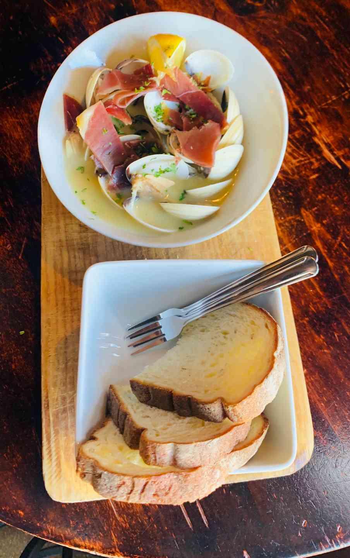 Sautéed Clams W/Serrano Ham