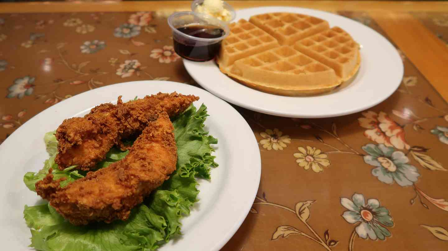 Waffle And 2 Tenders