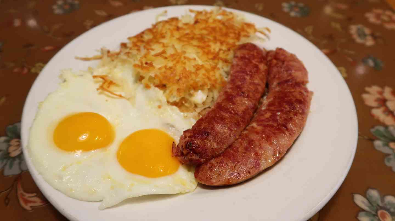 Smoked Alligator Sausage & 2 Eggs
