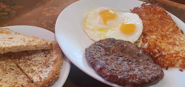 Ground Chuck Burger Patty & 2 Eggs