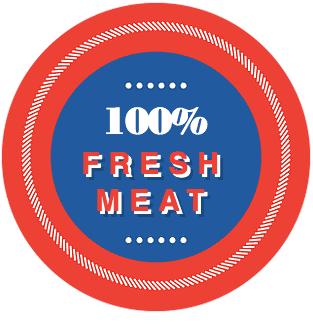 100% Fresh Meat badge