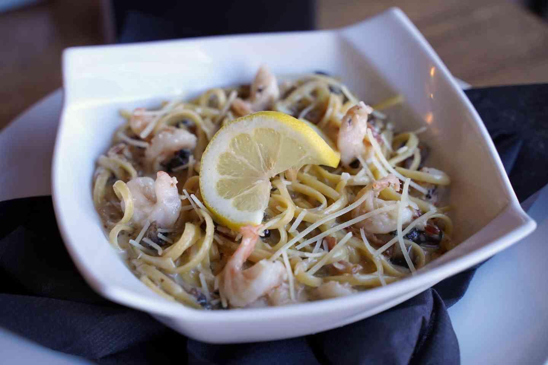 Shrimp Carbonara^