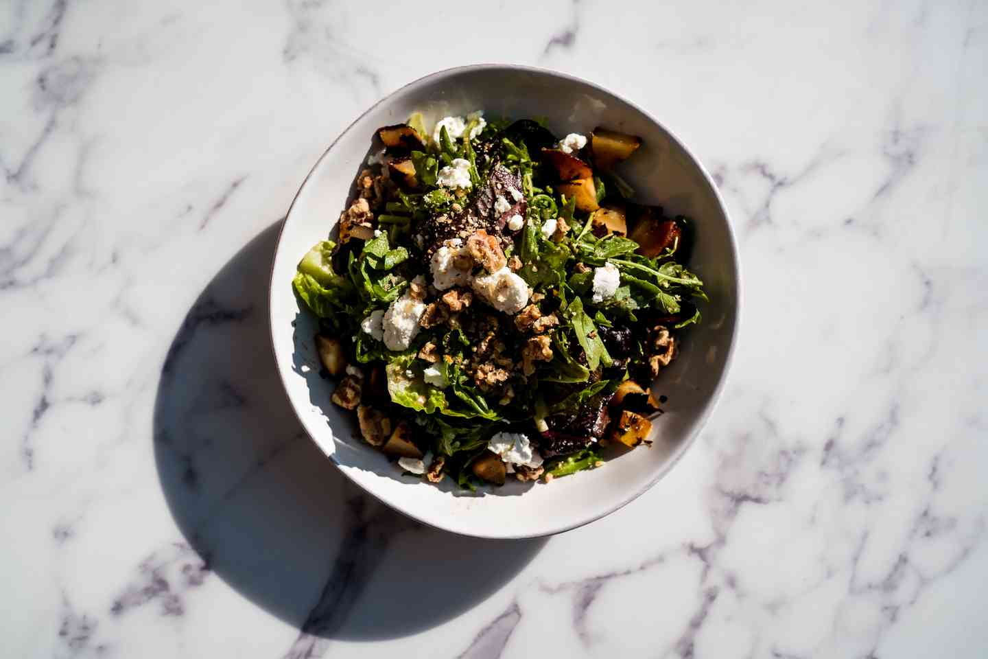 Grilled Pear and Goat Salad