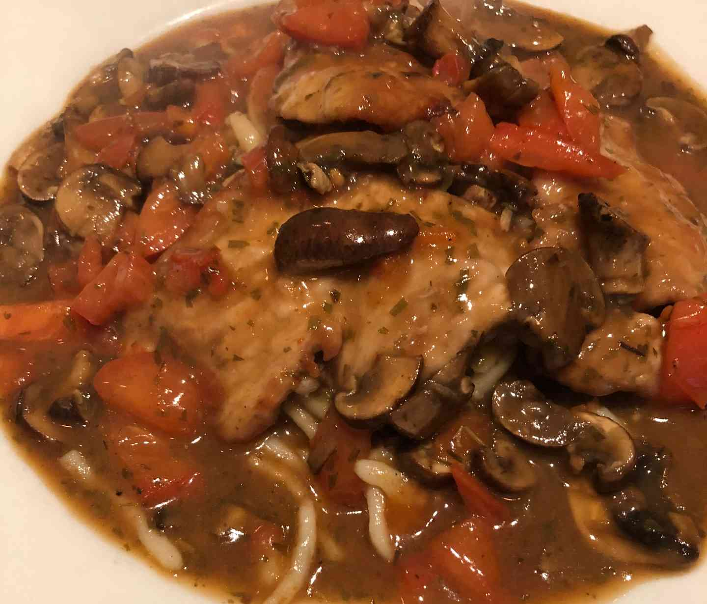 Veal Chasseur