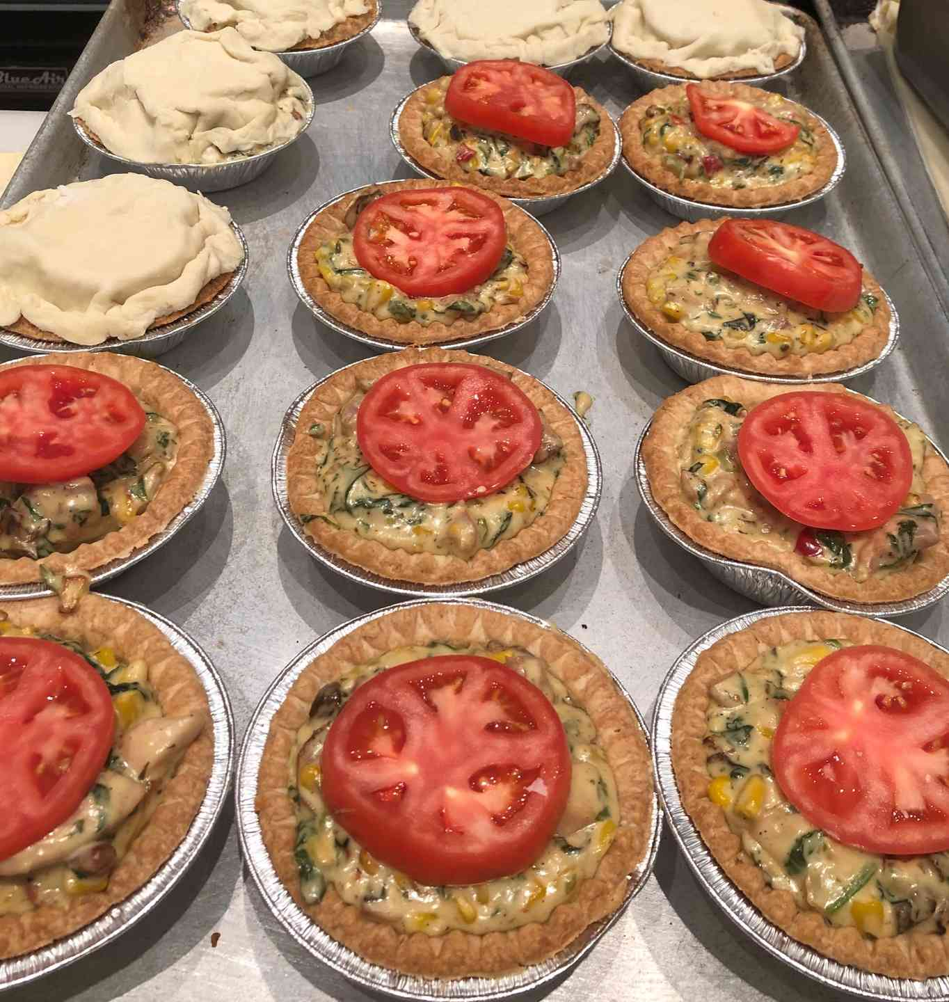 Chicken and Vegetable Meat Pie