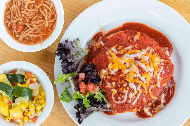Ribeye Steak Enchilada Plate