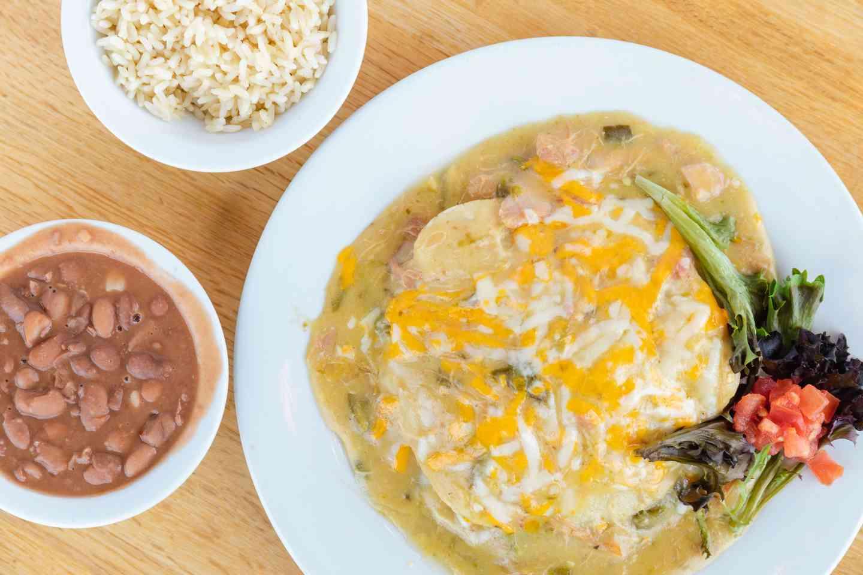 Creamy Chicken Enchilada Plate