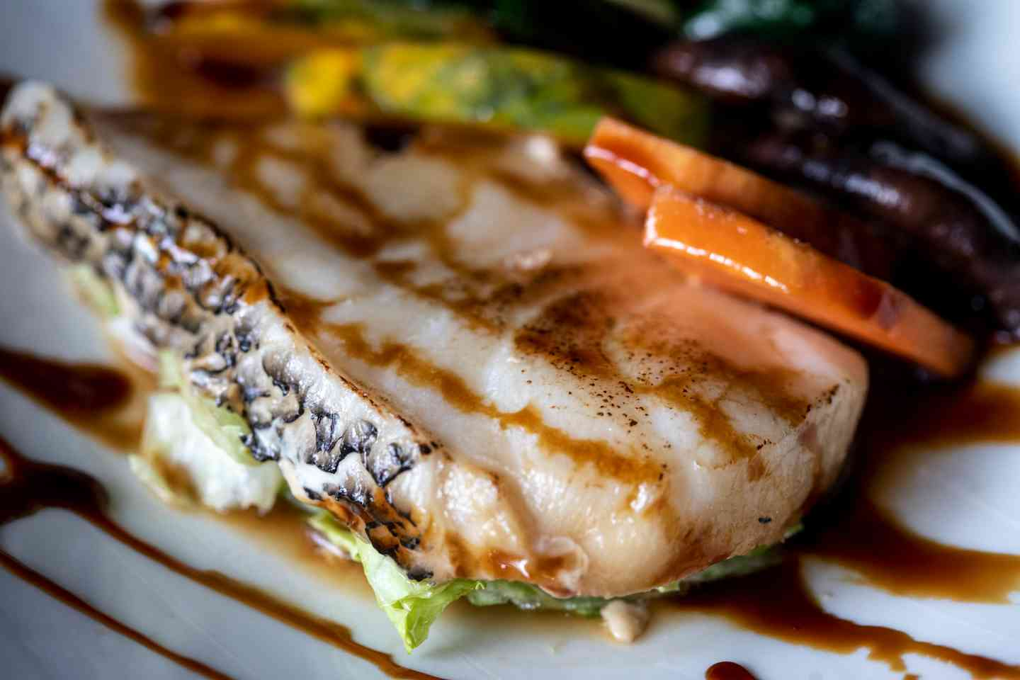 STEAM GRILLED SEA BASS