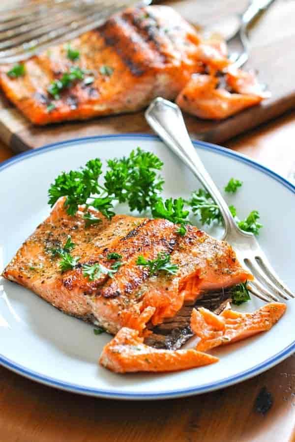 *Char-Broiled Salmon