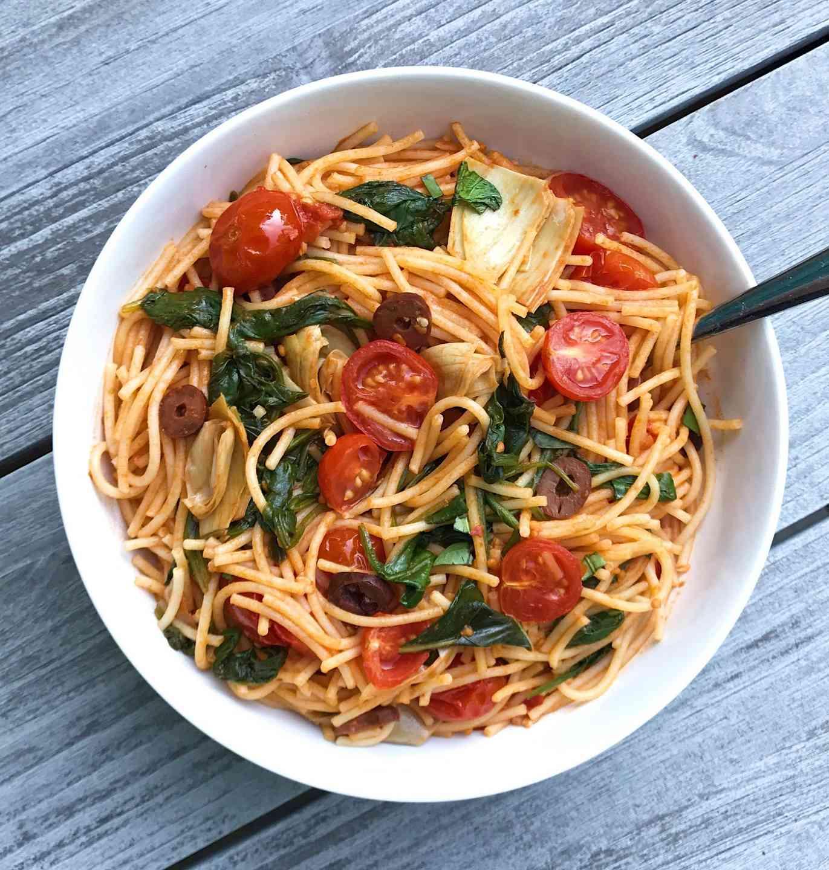 Mediterranean Veggie Pasta