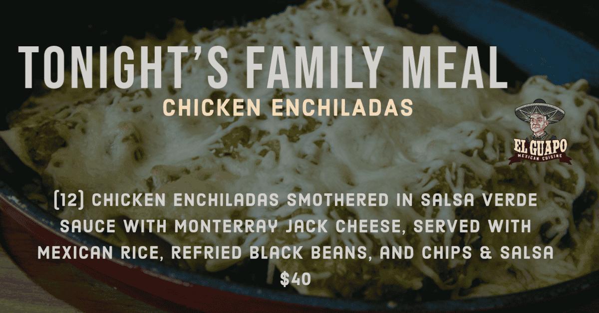 Chicken Enchiladas Family Meal