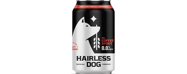Hairless Dog NA Coffee Stout Can