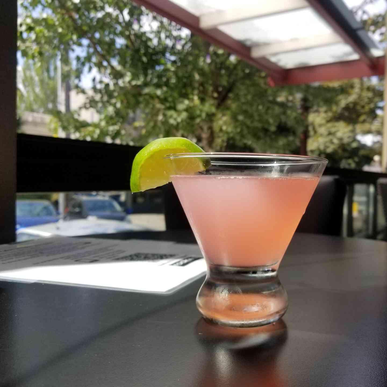 Rose Petal Gin Gimlet