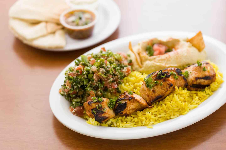 Chicken Skewer Plate