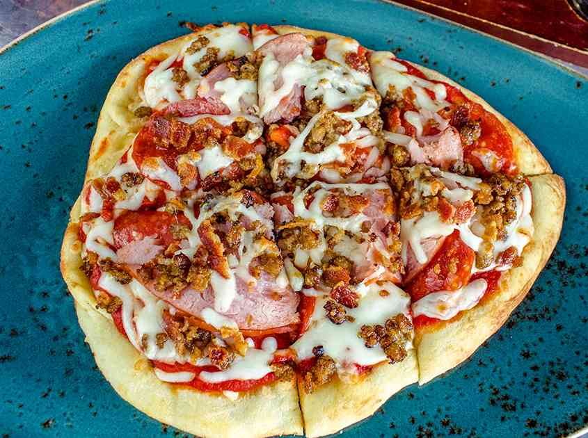 All Meat Flatbread
