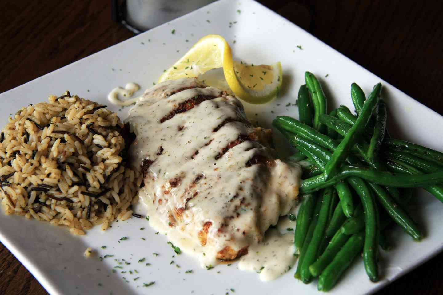 Parmesan Encrusted Pacific Cod with a Lemon Dill Beurre Blanc Sauce