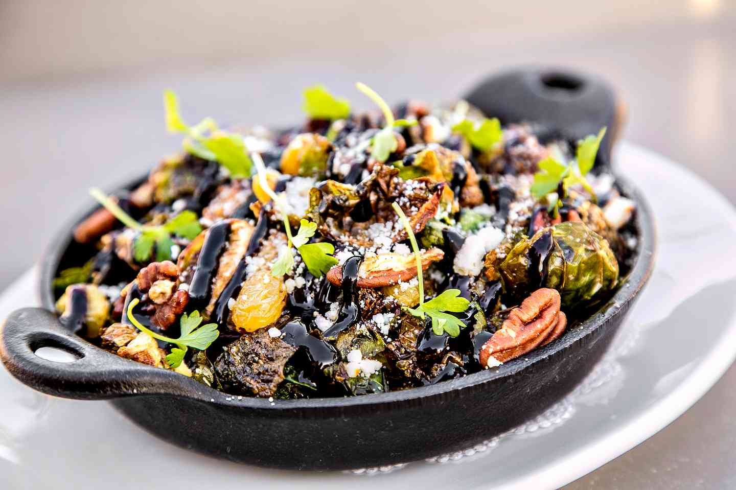 Cast Iron Roasted Brussels Sprouts