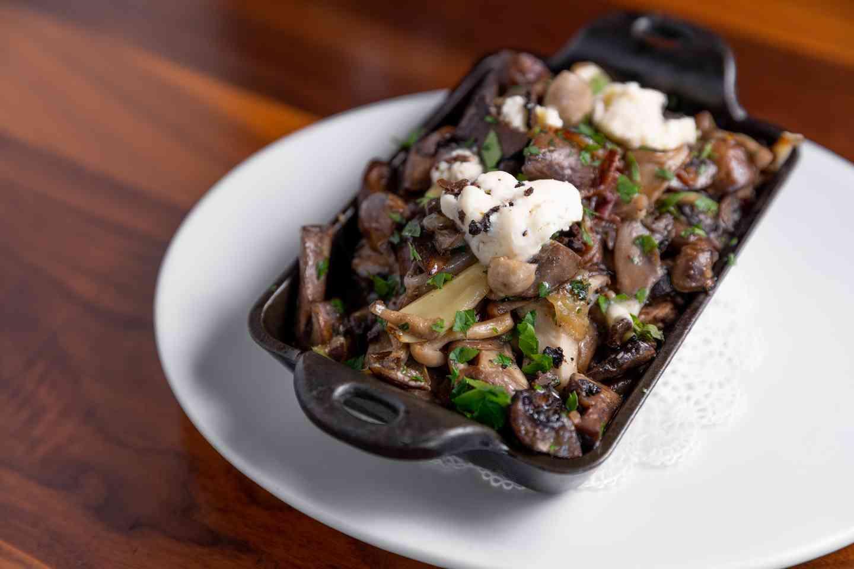 Skillet of Roasted Forest Gourmet Mushrooms