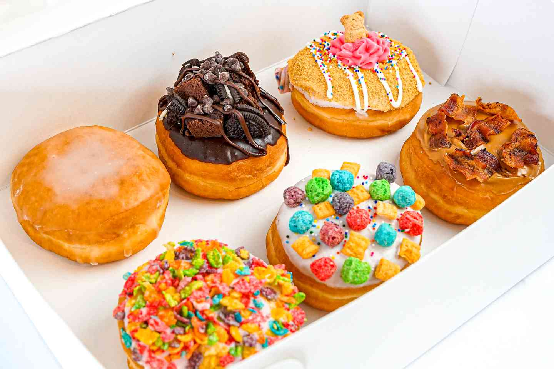 Half Dozen Big Donuts