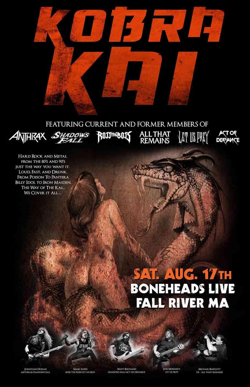 Kobra Kai debuts @ Boneheads Live