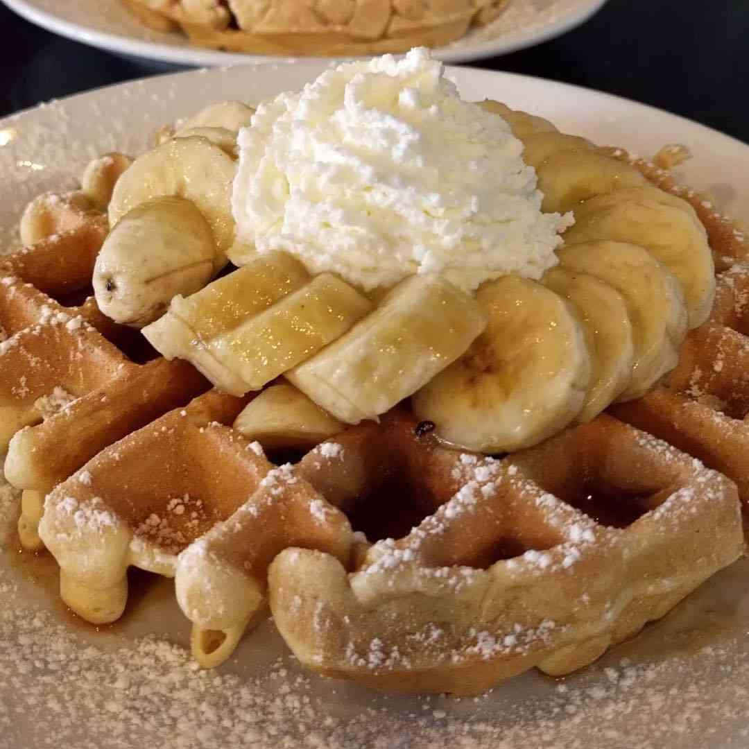 Bananas Foster Waffle